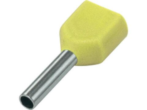 SOLAR Adereindhuls geisoleerd geel 2x6mm2 per 100 stuks
